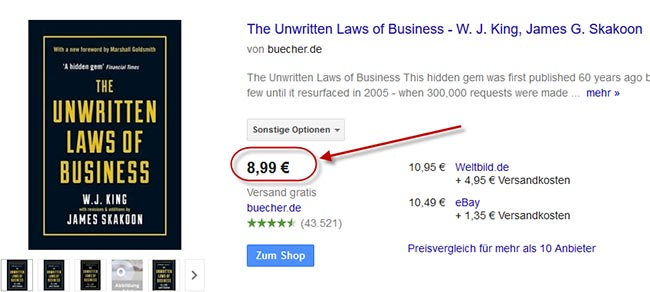 The Unwritten Laws of Business W. J. King and James G. Skakoon