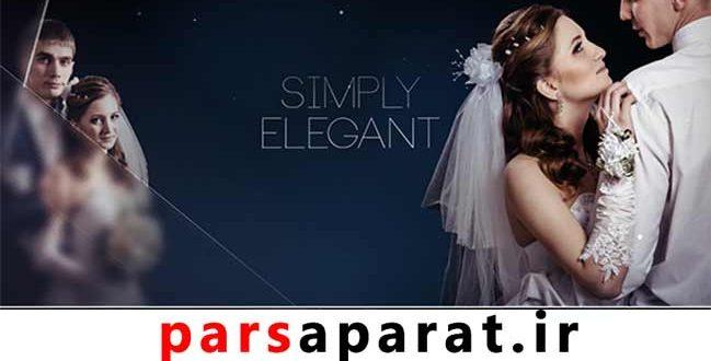 Free After Effects Template,Simply Elegant Slideshow, اسلایدشو افترافکت مخصوص کلیپ عروسی